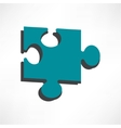 Puzzles piece icon   flat design style vector