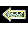 Retro american neon motel roadsign vector