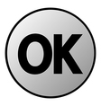 Ok button vector