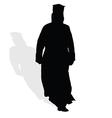 Priest silhouette vector