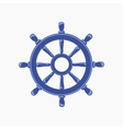 Ship wheel banner isolated on white background vector