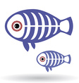Funny x-ray fish on a white background vector