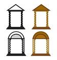 Four arches vector
