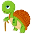 Cartoon elderly tortoise vector