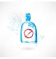 No drinks grunge icon vector