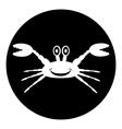 Crab button vector
