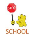 Stop school icon vector