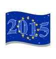 The main flag of the new year 2015 vector