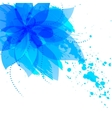 Abstract flower with blue blots vector