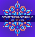 Abstract geometric blue orange red jewels star vector