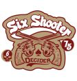Six shooter vector