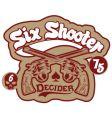 Six shooter vector