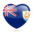 Heart icon of anguilla vector