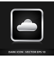 Cloud weather icon silver metal vector