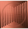 The brown abstract grid circle background vector