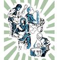 Rock band poster vector