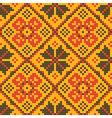 Ethnic cross stitch texture vector