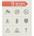 Home security icons set vector