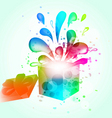 Gift box abstract background vector