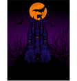 Halloween haunted castle vector