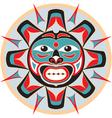 Sun in native american style vector