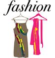 Dress clothes hanger vector