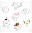 Funny dental set vector