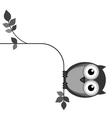 Owl fat vector