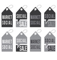 Set of social sale tags design template vector