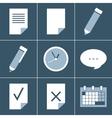 Organizer icon set vector