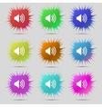 Speaker volume sign icon sound symbol set colour vector
