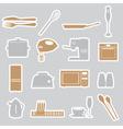 Kitchen stickers set eps10 vector