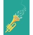 Music poster in flat retro style vector