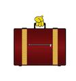 Suitcase color vector