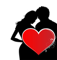 Lovers in valentines day vector
