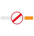 No smoking sign on a cigarette vector