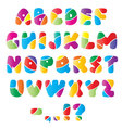 Artistic alphabet font with stripes vector