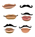 Collection of men mouths vector