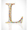 Abstract letter l vector
