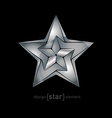 Abstract metallic star vector