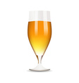 Glass with beer on white background vector