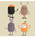 Character monster gang vector