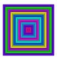 Square multicolored button vector