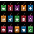 Tag icons on black vector