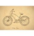 Vintage bicycle background vector