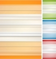 Abstract striped backgrounds set vector