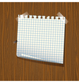 Note paper on wood vector