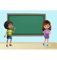 Children in classroom vector