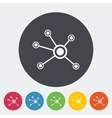 Social network single icon vector