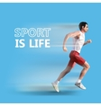 Polygonal running man geometric  sport is life vector